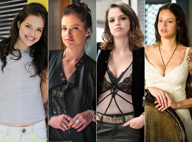 Agatha Moreira e suas personagens na TV (Foto: TV Globo/Divulgação)
