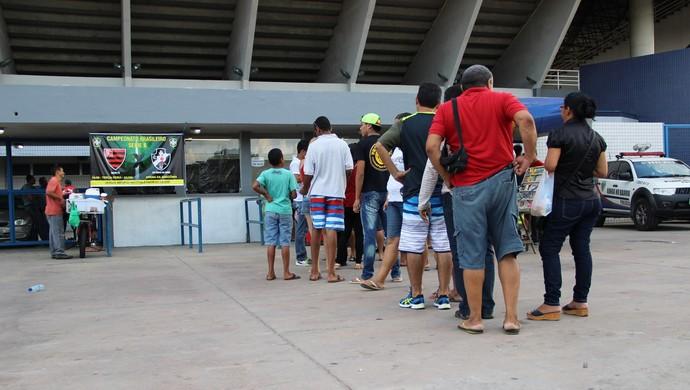 Torcida ingresso Oeste Vasco Manaus (Foto: Adeilson Albuquerque)