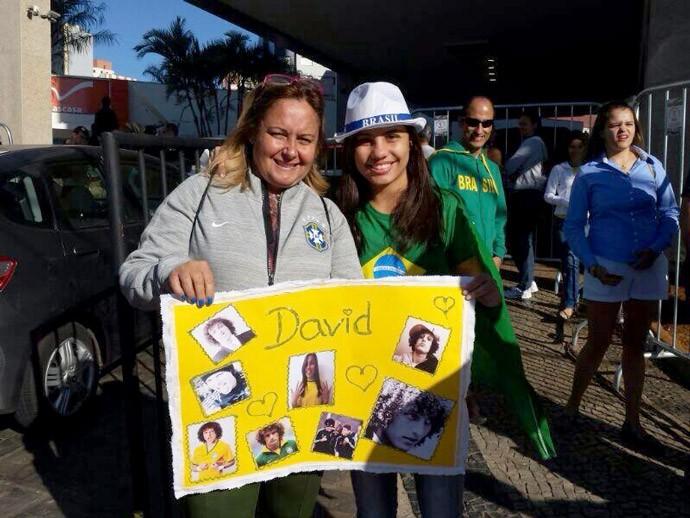Mãe David Luiz - brasil x chile (Foto: Fernando Martins )