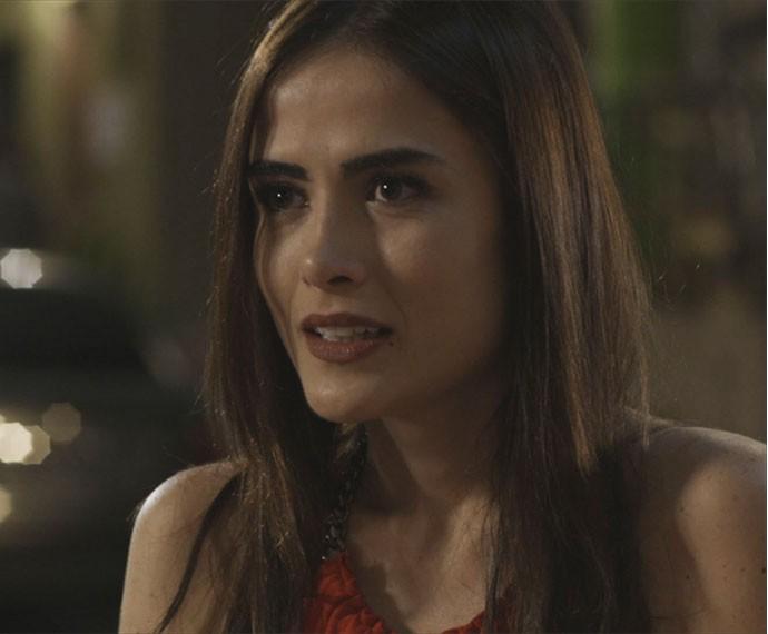 Margot conta para Ben que está grávida (Foto: TV Globo)