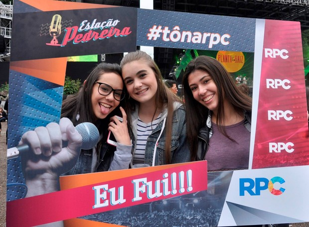 RPC marcando presença no Estação Pedreira, um dos maiores festivais de música do sul do país (Foto: Roger Santmor/RPC)