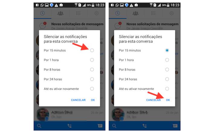 Silenciando uma conversa do Facebook Messenger para Android (Foto: Reprodução/Marvin Costa) (Foto: Silenciando uma conversa do Facebook Messenger para Android (Foto: Reprodução/Marvin Costa))