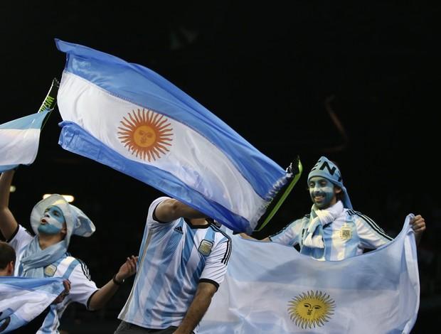 Torcida argentina vibra na Croácia