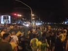 Grupo protesta em Ribeirão Preto em ato pela saída da presidente Dilma