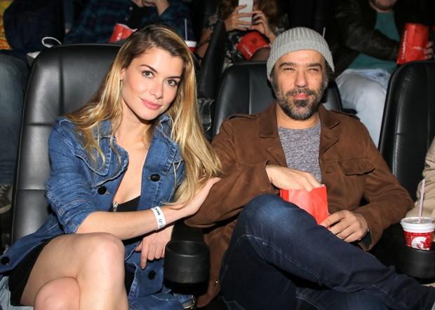 Alinne Moraes e o marido, Mauro LIma (Foto: Thiago Duran/AgNews)