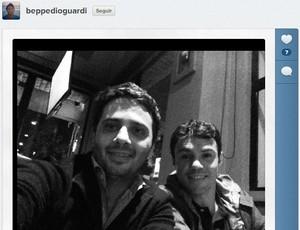 Giuseppe Dioguardi em janta com Kleber Gladiador (Foto: Reprodução / Instagram)