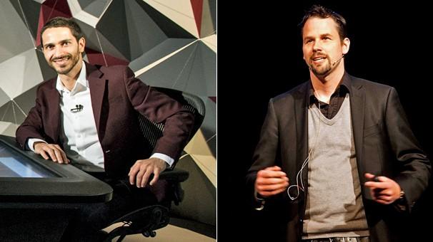 Ronaldo Lemos, um dos apresentadores do programa Navegador da GloboNews, e Mikael Ahlström, da Hyper Island, escola de origem sueca voltada para inovação, criatividade e estratégias digitais, farão debate na Campus Party (Foto: Divulgação e Globo)