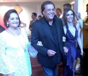 Casamento Gilberto Braga e Edgar Moura Brasil - Lucinha Araújo, Dennis Carvalho e Deborah Evelyn (Foto: Bruno Astuto)