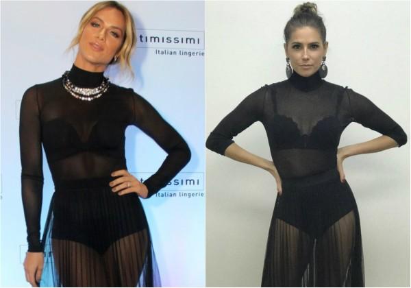 Deborah Secco e Giovanna Ewbank usam o mesmo look transparente