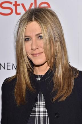 Jennifer Aniston em première de filme em Nova York, nos Estados Unidos (Foto: Mike Coppola/ Getty Images/ AFP)