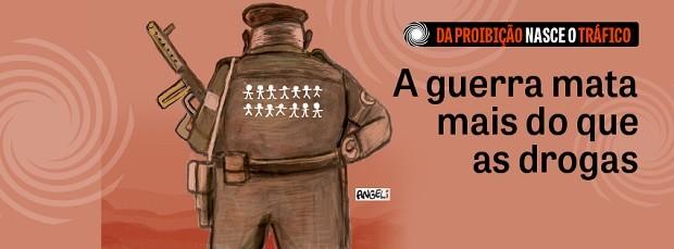 """Campanha """"Da proibição nasce o tráfico"""" (Foto: Divulgação/Facebook)"""