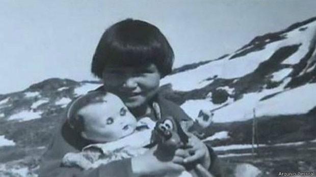 Helene Thiesen tinha acabado de perder o pai quando foi levada de sua família para ir à Dinamarca (Foto: Arquivo Pessoal)