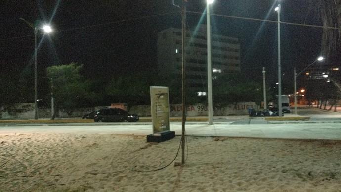 Vôlei de praia, Mundial, segurança, Praia do Futuro (Foto: Thaís Jorge)
