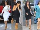 Kim Kardashian repete sete vezes a mesma sandália em menos de 20 dias