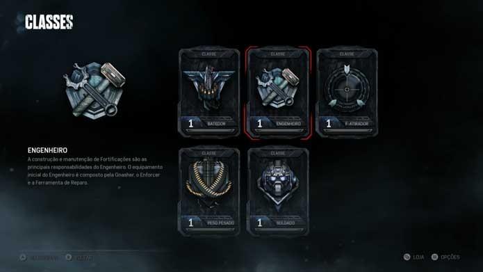 Escolha uma classe em Gears of War 4 (Foto: Reprodução/Murilo Molina)