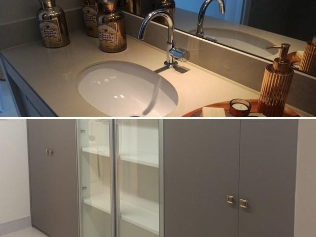 Bom acabamento e itens extras, como armários, são atrativos diferentes Goiânia Goiás (Foto: Vanessa Martins/G1)