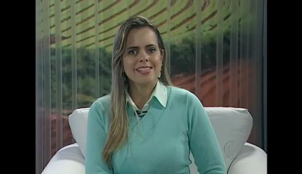 Apresentadora Mirielly de Castro (Foto: Reprodução / TV Diário)
