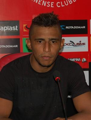 Willian, atacante do Campinense (Foto: Silas Batista / GloboEsporte.com)