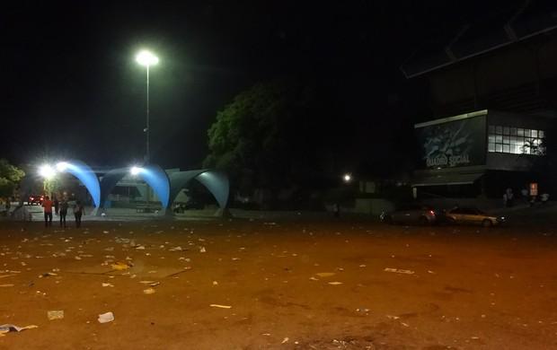 Pátio do Olímpico vazio após Gre-Nal de despedida do estádio (Foto: Hector Werlang/Globoesporte.com)