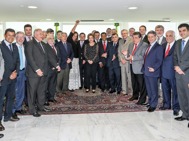 Dilma se reúne no Planalto com deputados e ministros contrários ao impeachment (Foto: Roberto Stuckert Filho/PR)
