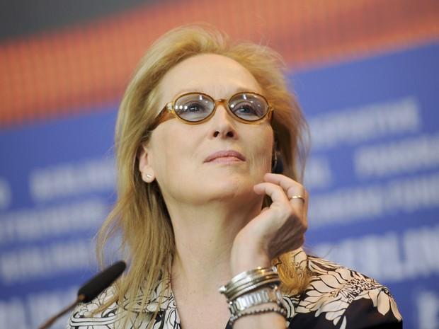 Meryl Streep na coletiva de abertura do Festival de Berlim nesta quinta (11) (Foto: REUTERS/Stefanie Loos)