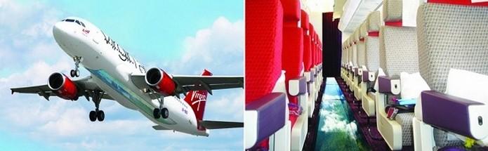 Virgin anunciou avião com chão transparente (Foto: Reprodução/Virgin)