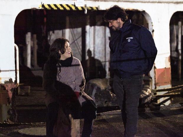 Ela é orientada pelo diretor René Sampaio (Foto: Carol Caminha / Gshow)