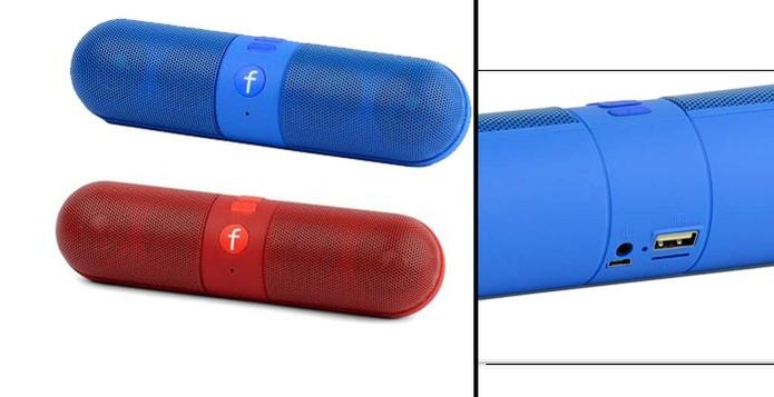 Caixa de som  tem design cilíndrico em diversas cores (Foto: Divulgação/Madake)