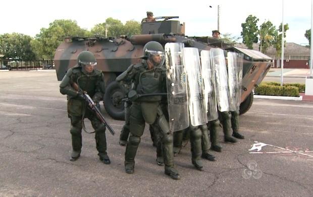 Há dois meses os militares do Exército de Roraima se preparam para a Copa do Mundo de 2014  (Foto: Bom Dia Amazônia)
