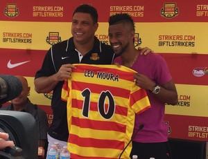 Ronaldo e Leo Moura Fort Lauderdale Stikers (Foto: Divulgação)