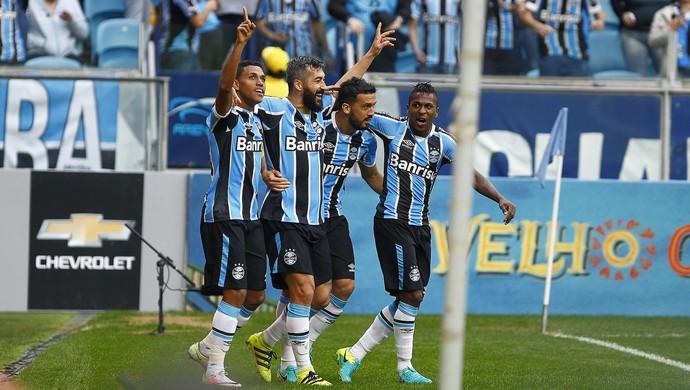 Douglas Grêmio x São Paulo (Foto: Lucas Uebel/Divulgação Grêmio)