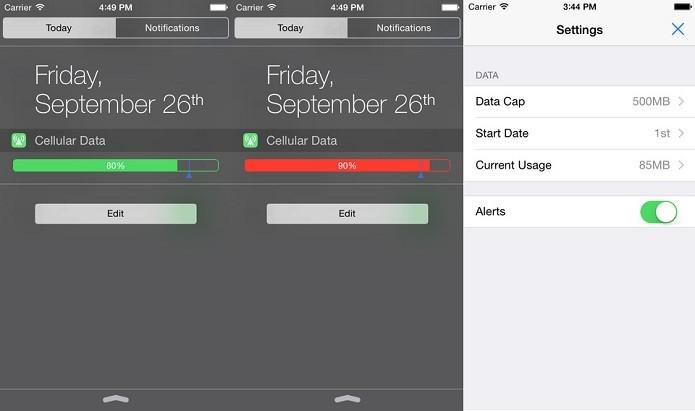 Fique de olho no consumo do plano de dados com o Data Widget (Foto: Divulgação/AppStore)