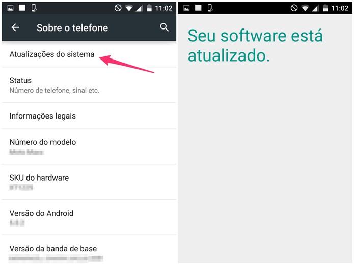 Verifique se há atualizações disponíveis para o Android do seu Moto Maxx (Foto: Reprodução/Lucas Mendes)