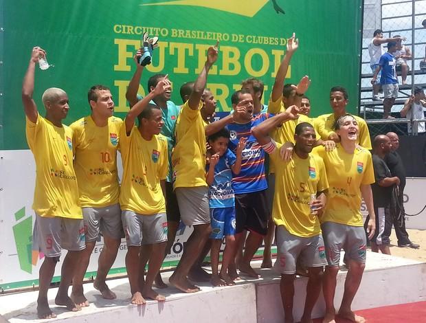 Vila Velha ficou com o vice-campeonato da 1ª etapa do Circuito Brasileiro de futebol de areia (Foto: Richard Pinheiro/Globoesporte.com)