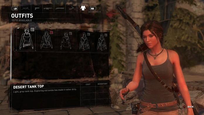 A Desert Tank Top lembra bastante a roupa do último game (Reprodução/Twinfinite)