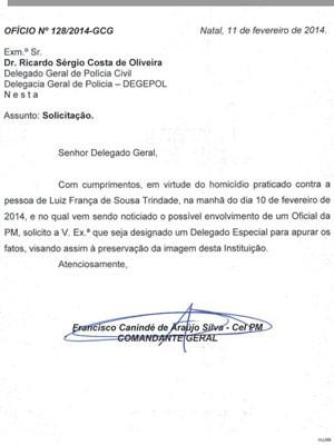 Ofício solicita a nomeação de um delegado especial para investigar morte do lutador de MMA Luiz de França (Foto: Reprodução)