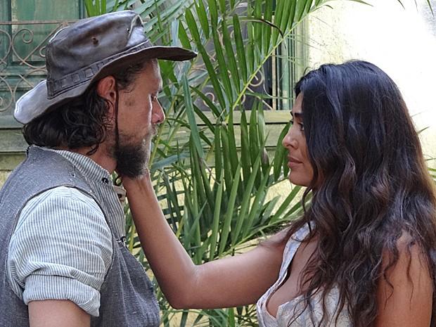 Gabriela se despede do amigo sertanejo (Foto: Gabriela/TV Globo)