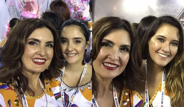 Fátima Bernardes com as filhas Laura e Bia (Foto: Reprodução / Instagram)