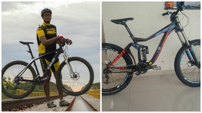 bikes, cleber Santos, carteiro ciclista, Salgueiro (Foto: Cleber Santos / arquivo pessoal)