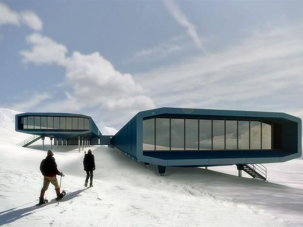 A estrutura principal da futura estação antártica será feita de aço (Foto: Divulgação/Estúdio 41)