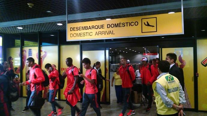 Flamengo, desembarque, Fortaleza (Foto: Juscelino Filho)