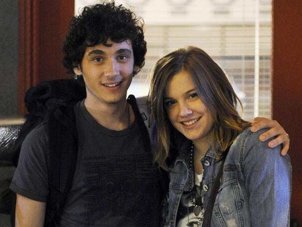 Guilherme Prates e Alice Wegmann como Dinho e Lia na trama (Foto: Malhação  / TV Globo)