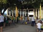 Manifestantes se reúnem no Centro de Boa Vista em ato contra Dilma