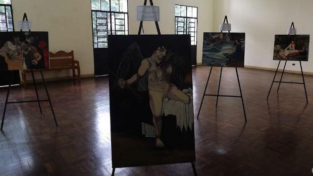 Seis pinturas em óleo sobre tela reproduzem trabalhos de grandes pintores (Foto: Divulgação/ RPC)