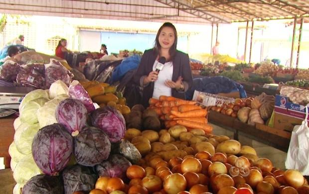 Produtos para dieta podem ser encontrados nas feiras comerciais (Foto: Roraima TV)