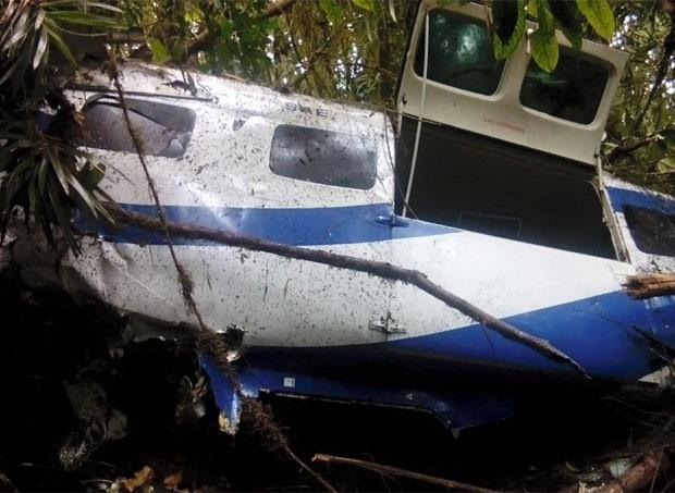 Avião Cessna caiu em Yumbo, perto de Cali (Foto: Reprodução/Facebook/Fanor Gómez Ruiz)