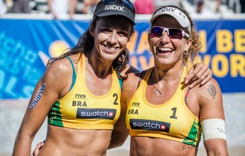 Alison/Bruno e Larissa/Talita vencem na estreia do World Tour Finals