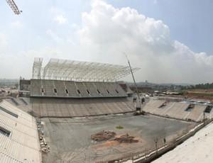 Arena Corinthians chega a 63% das obras em janeiro (Foto: Divulgação/Odebrecht)