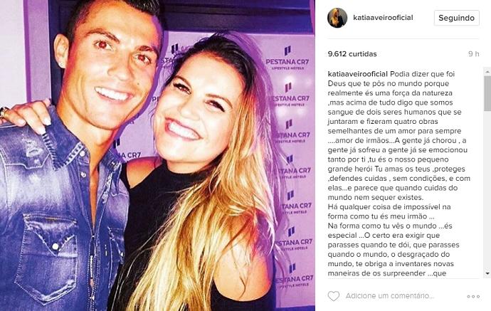 Cristiano Ronaldo aniversário irmã