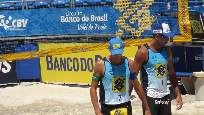 Emanuel e Pedro vôlei de praia al (Foto: Viviane Leão/GloboEsporte.com)